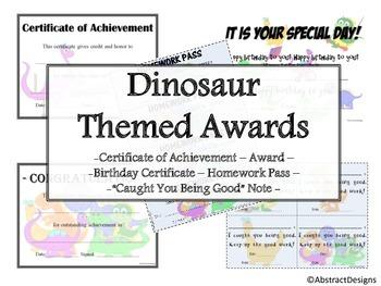 Dinosaur Awards Set