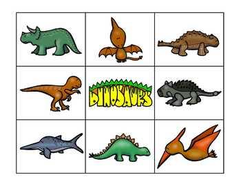 Dinosaur BINGO and More