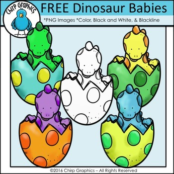 FREE Dinosaur Baby Clip Art Set - Chirp Graphics