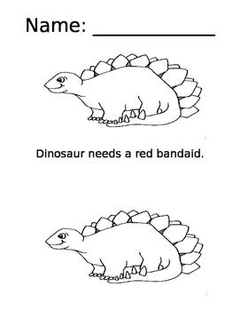 Dinosaur Bandaid Book