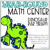 Dinosaur Bar Graph Kindergarten Year-Round Math Center
