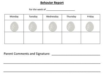 Dinosaur Behavior Chart