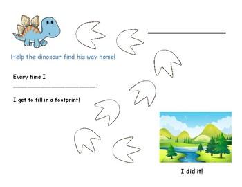 Dinosaur Behavior Chart Bundle