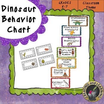 Dinosaur Behavior Chart and Punch Cards