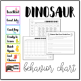 Dinosaur Behavior Clip Chart with Student Accountability Worksheets