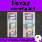 Dinosaur Behavior Reward Peg Chart EDITABLE