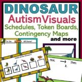 Dinosaur Autism Behavior Visuals: Schedules, Token Boards,