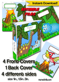 Dinosaur Binder Cover Editable Teacher Binders, Sub Folder, Student Portfolio