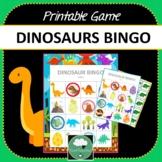 DINOSAURS BINGO GAME Two Designs + PDF + Digital Options