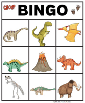 Dinosaur Bingo Dollar Deal by Preschool Printable TpT