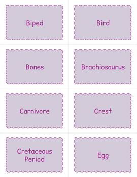Dinosaur Bingo Game - Dinosaur Themed Activity