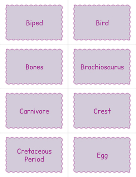 Dinosaur BINGO - Dinosaur Game