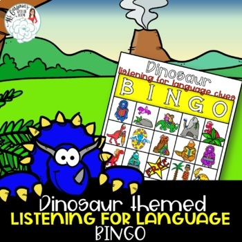 Dinosaur Bingo: Receptive Language for Speech Therapy