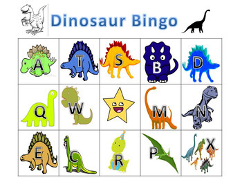 Dinosaur Bingo for small groups