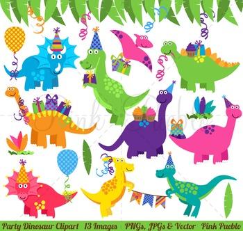Dinosaur Birthday Clipart, Dinosaur Birthday Clip Art, Dinosaur Party Clipart