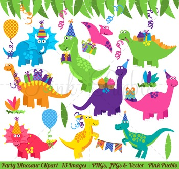Dinosaur Birthday Clipart, Dinosaur Birthday Clip Art, Din