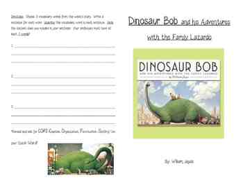 Dinosaur Bob and his Adventures with the Family Lazardo Activity Booklet