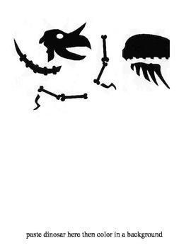 Dinosaur Bones cutting exercises