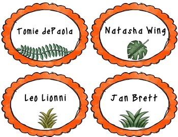 Dinosaur Book Bin Labels