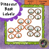 Dinosaur Book Bin Labels