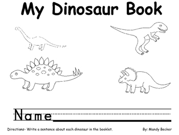 Dinosaur Booklet with Sentence Writing