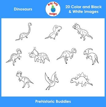 Dinosaur Buddies Clip Art