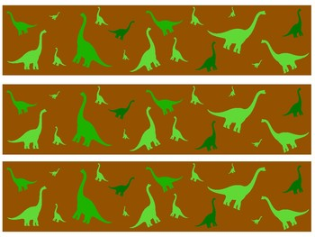 Dinosaur Bulletin Board Borders
