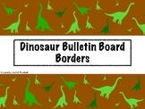 Dinosaur Bulletin Board Borders