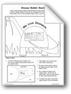Dinosaur Bulletin Board, Centers, and Picture Cards