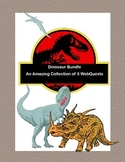 Distance Learning-Dinosaur Bundle-An Amazing Collection of 5 WebQuests