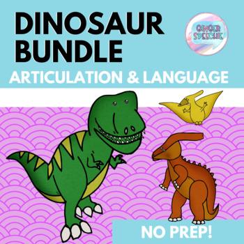 Dinosaur Bundle   Articulation and Language   No Prep