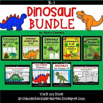 Dinosaur Bundle (Preschool, Kindergarten, 1st grade)
