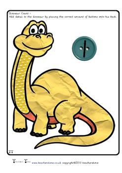 Dinosaur Button Count