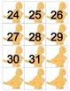 Dinosaur Calendar Cards with an AB Pattern
