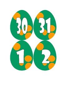 Dinosaur Calendar Eggs