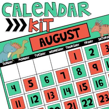 Dinosaur Calendar Kit