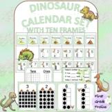 Dinosaur Calendar Set with Ten Frames
