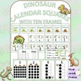 Dinosaur Calendar Squares with Ten Frames