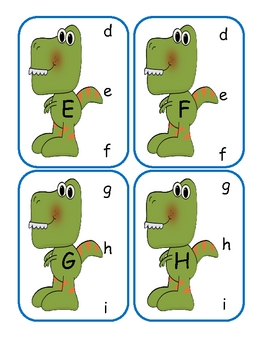 Dinosaur Capital to Lowercase Clip Cards
