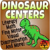 Dinosaur Centers Activities Literacy Math Fine Motor Prehistoric Fossils Tubs