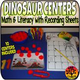 Dinosaur Centers Math Literacy Dinosaur Activities Recording Sheets Worksheets