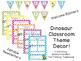 Dinosaur Chevron Classroom Theme Decor - EDITABLE!