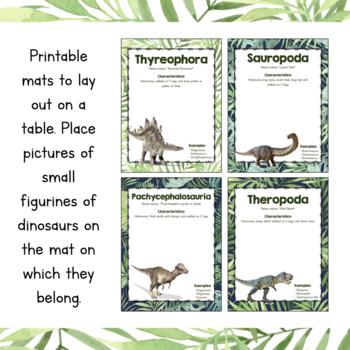 Paleontology Unit Study: Dinosaur Classification Sorting Mats