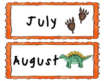 Dinosaur Classroom Calendar