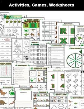 Dinosaur Classroom Center Activity Bundle
