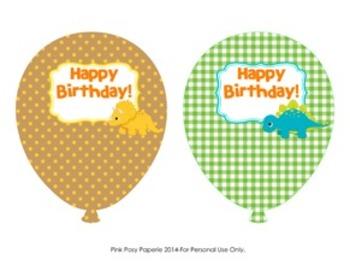 Dinosaur Classroom Decor Birthday Balloons - 4 Different Designs