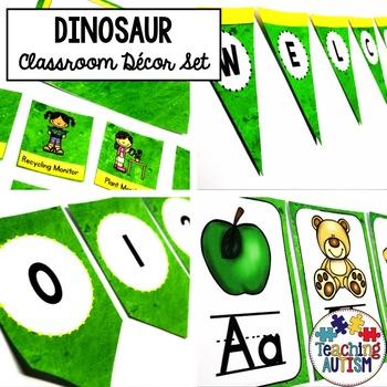 Dinosaur Editable Classroom Decor Pack