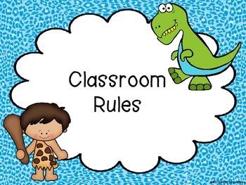 Dinosaur Classroom rules