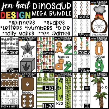 Dinosaur Clip Art -Mega BUNDLE {jen hart Clip Art}
