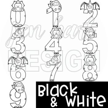 Dinosaur Clip Art  Numbers 0-9 {jen hart Clip Art}